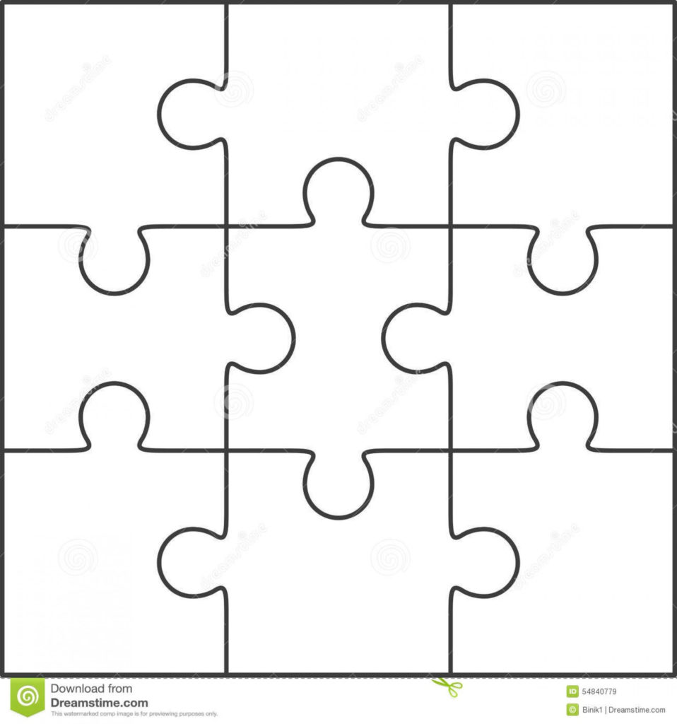 Printable Blank Jigsaw Puzzle Outline Printable