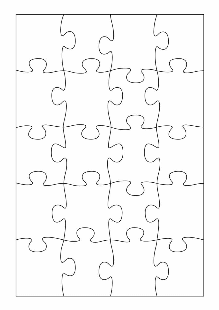 Printable Blank Jigsaw Puzzle Pieces