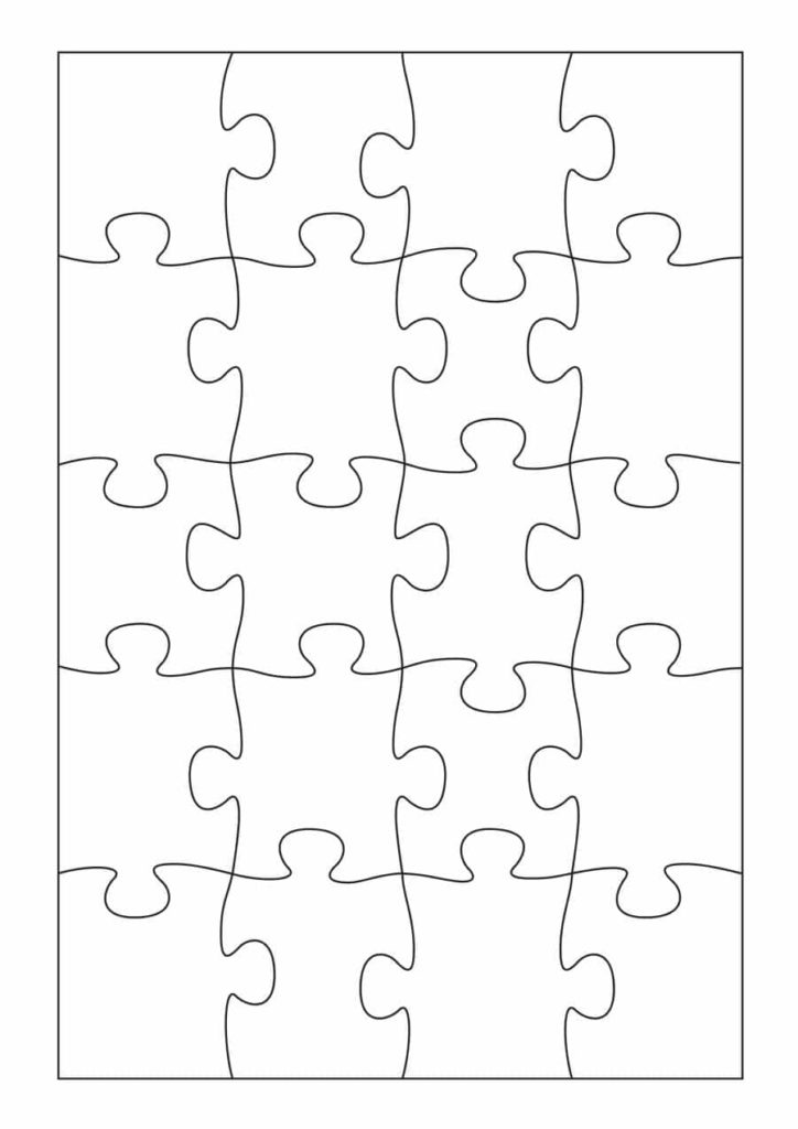 Printable Blank Puzzle Template Business PSD Excel