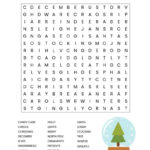 Printable Christmas Word Searches For Adults Word Search
