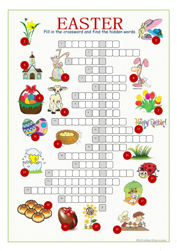 Printable Easter Puzzles For Adults Printable Crossword