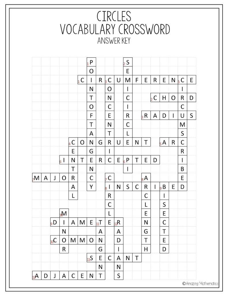 Printable English Crossword Puzzles With Answers Pdf