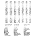Printable Music Word Search Puzzles Music Word Search