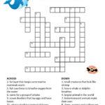 Printable Ocean Animals Crossword Puzzles For Kids K5