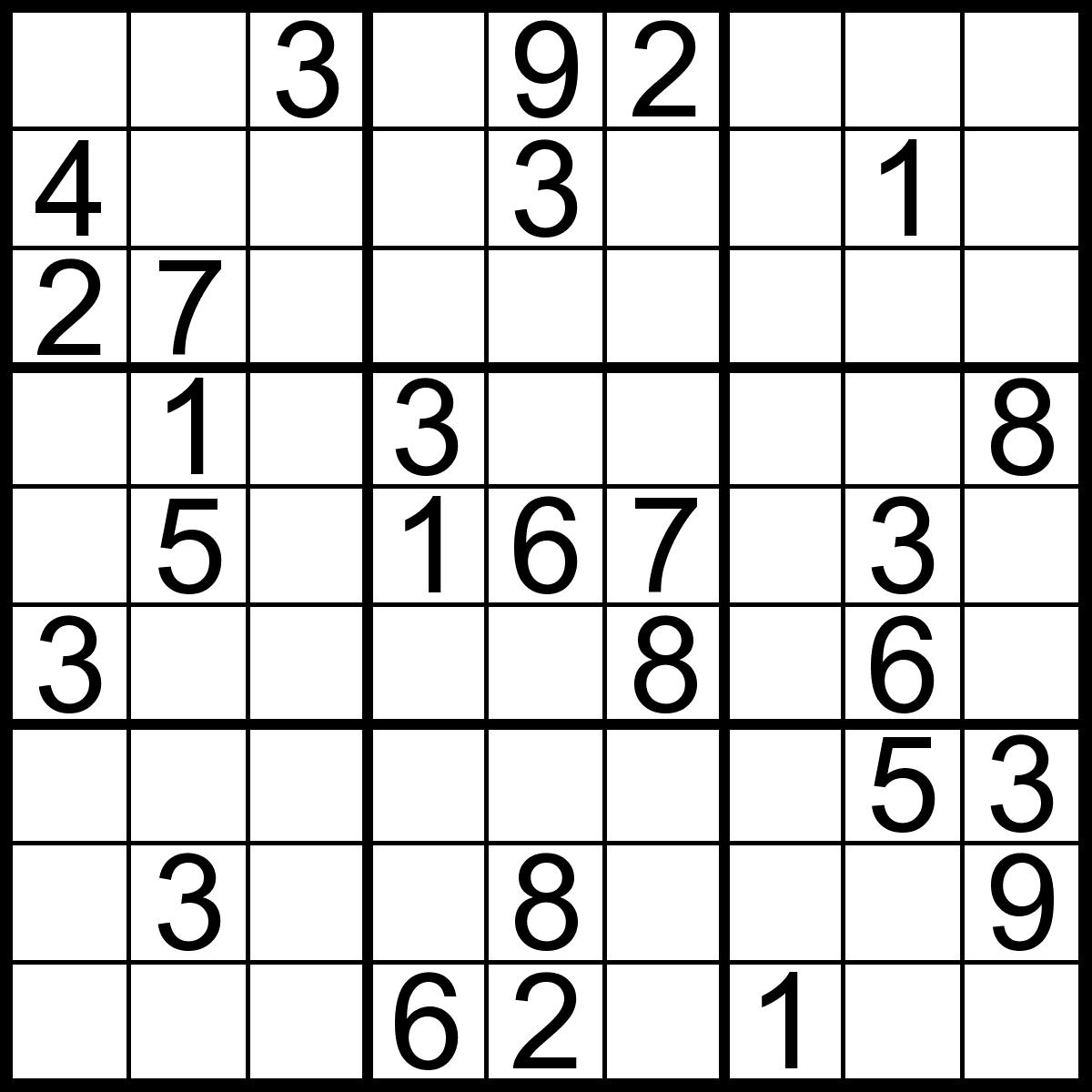 Free Printable Sudoku Puzzles