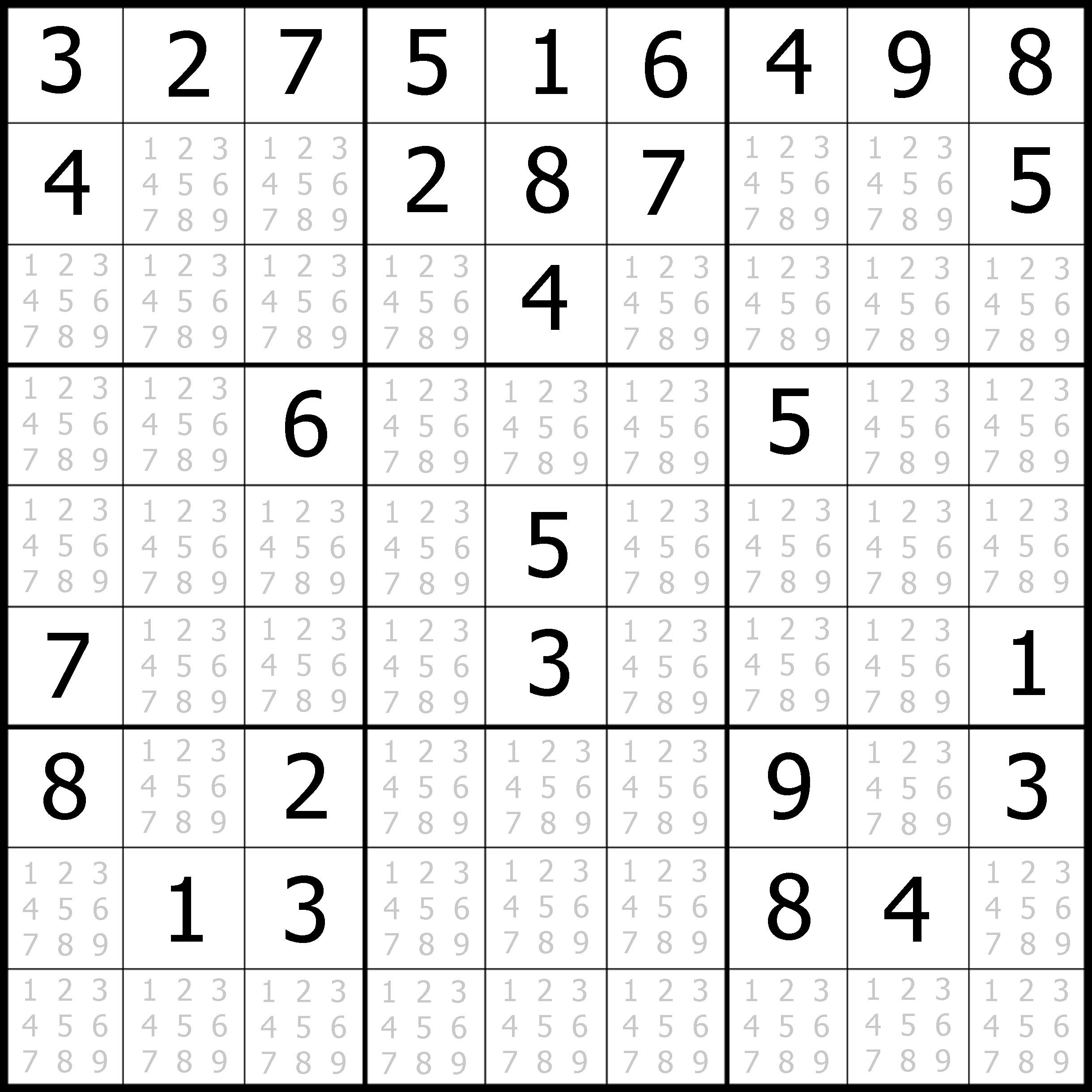 Free Easy Sudoku Puzzles Printable