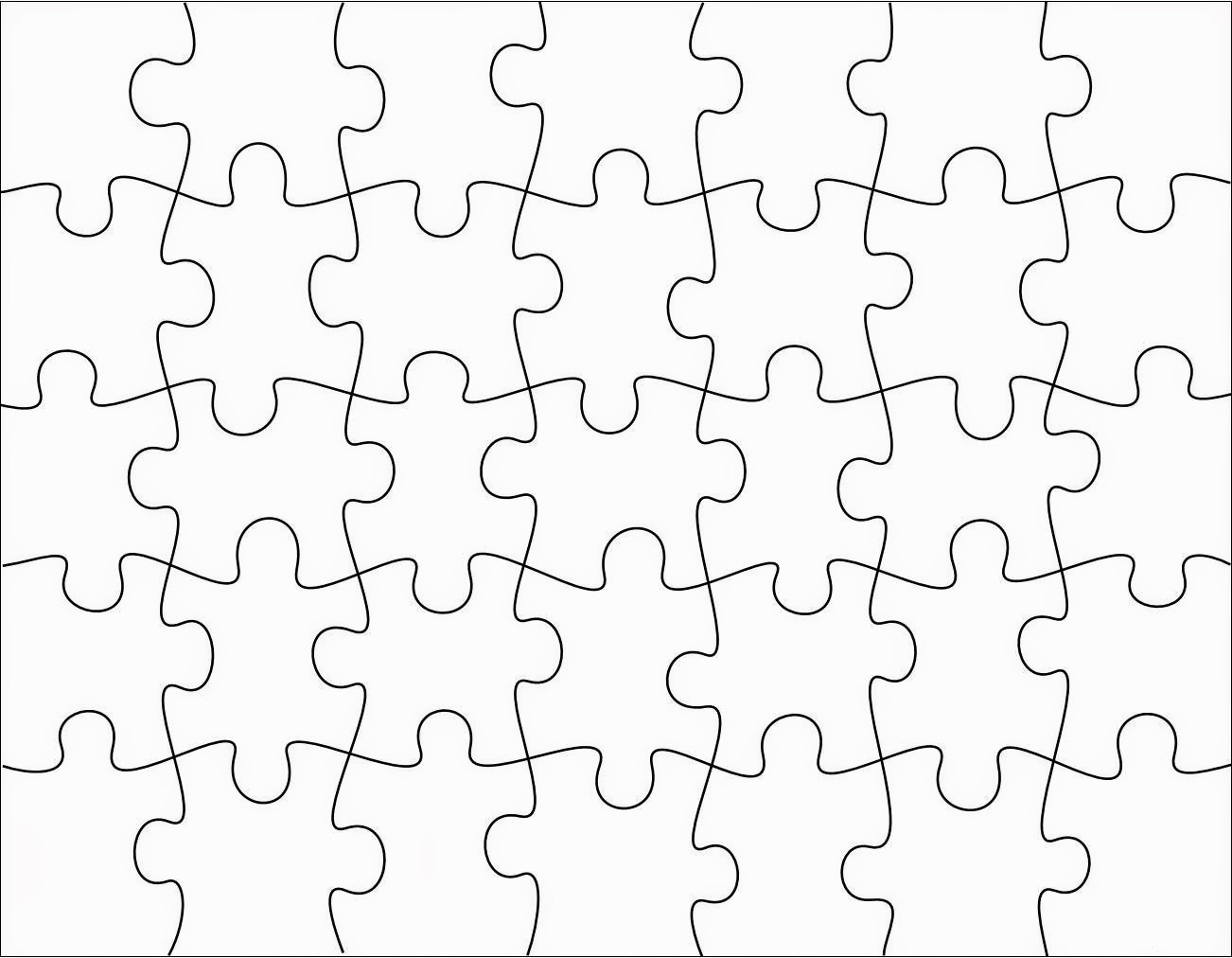 Printable Jigsaw Puzzle Pieces
