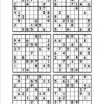 Sudoku Printable Six Per Page Sudoku Printable