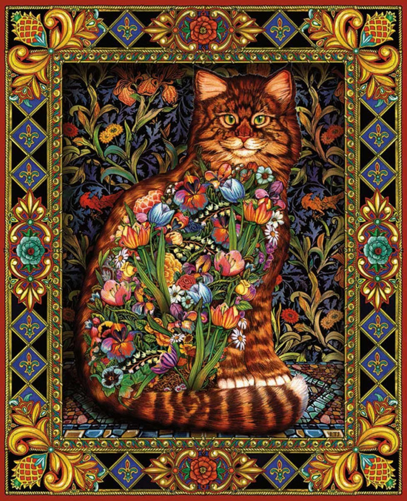 Tapestry Cat Jigsaw Puzzle Beautiful Jigsaw Puzzles For
