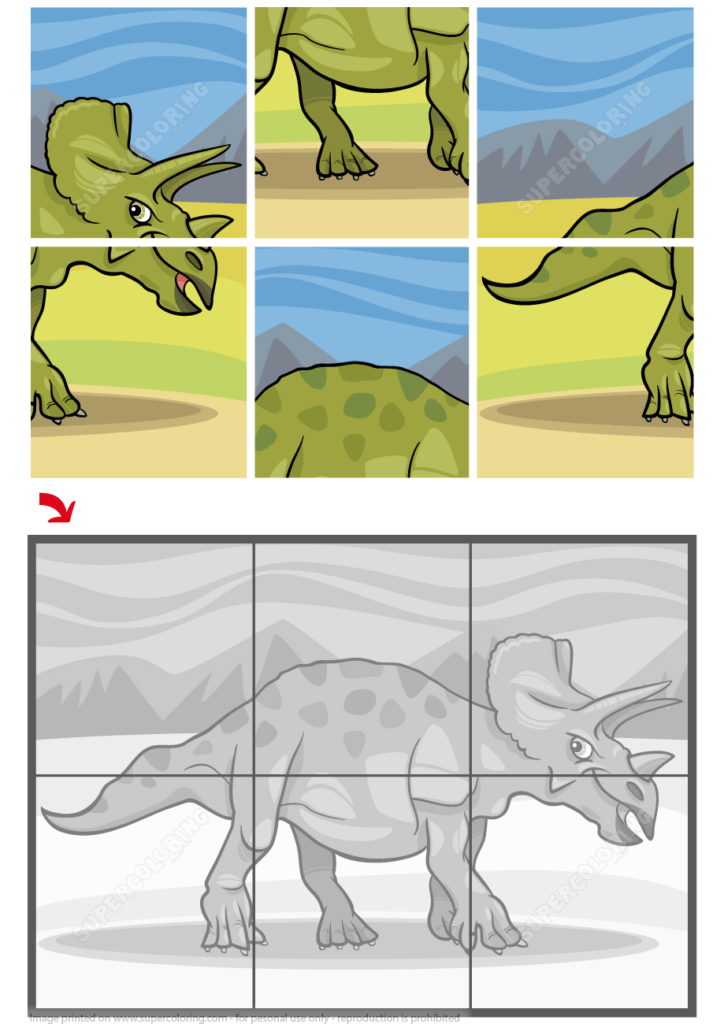 Triceratops Dinosaur Jigsaw Puzzle From Jigsaw Puzzles