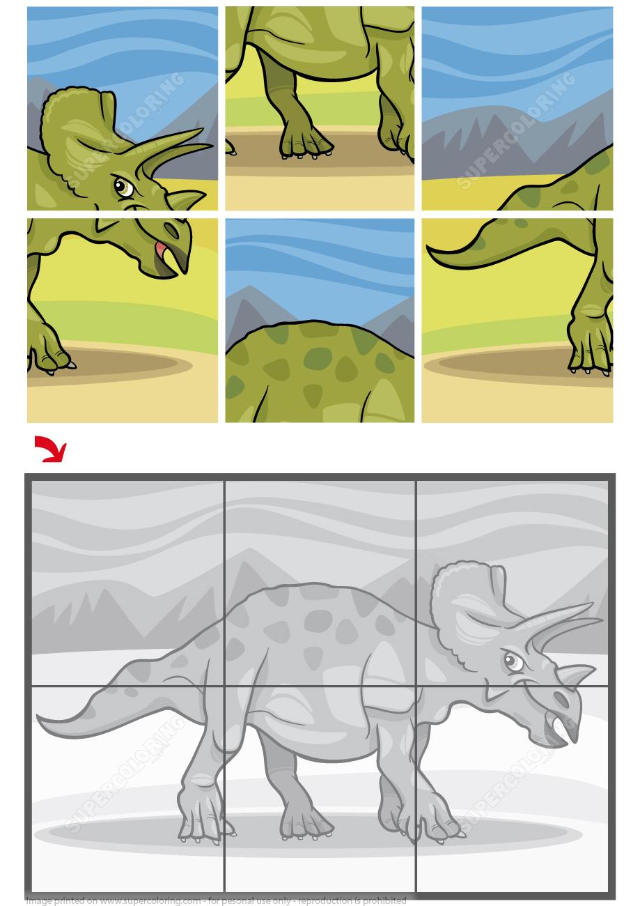 Free Printable Dinosaur Jigsaw Puzzles