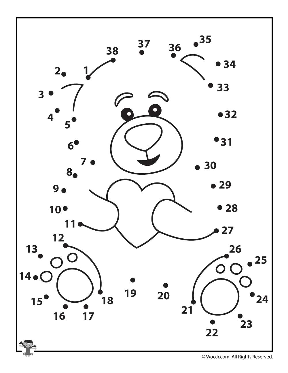 Free Printable Dot To Dot Puzzles For Kids