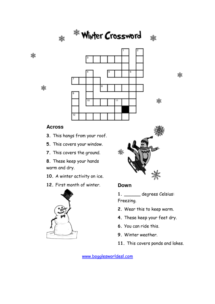12 Best Images Of Winter Puzzle Worksheets Kid Winter