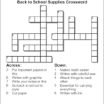 Crossword Puzzle Maker World Famous From The Teacher S