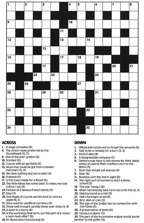 Daily Mail Crossword To Print