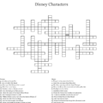 Disney Crossword Puzzles Printable For Adults Printable