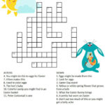 Easter Crossword Puzzle 2 Easter Puzzles Easter