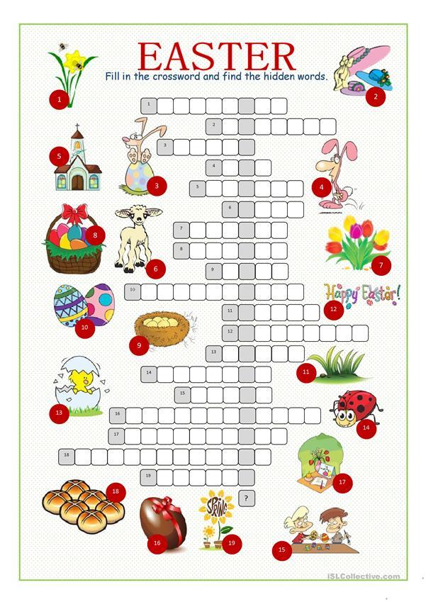 Easter Crossword Printable