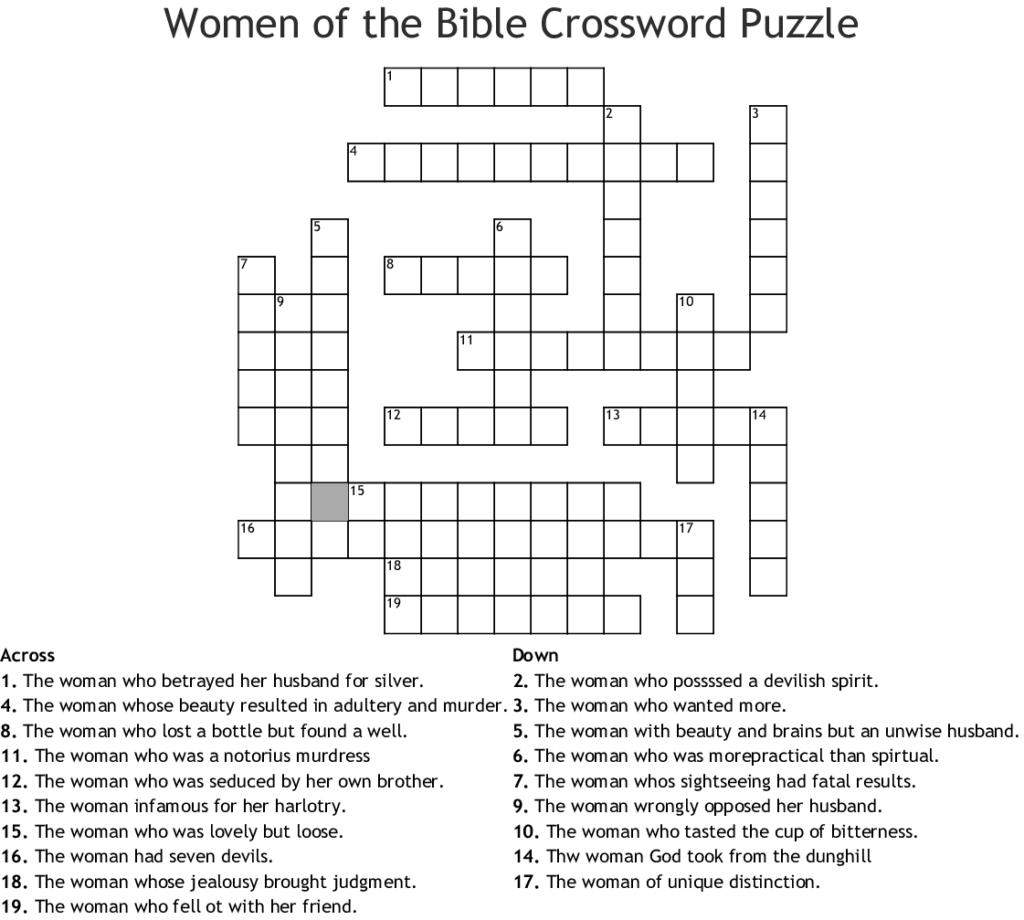 Easy Bible Crossword Puzzles Printable Printable
