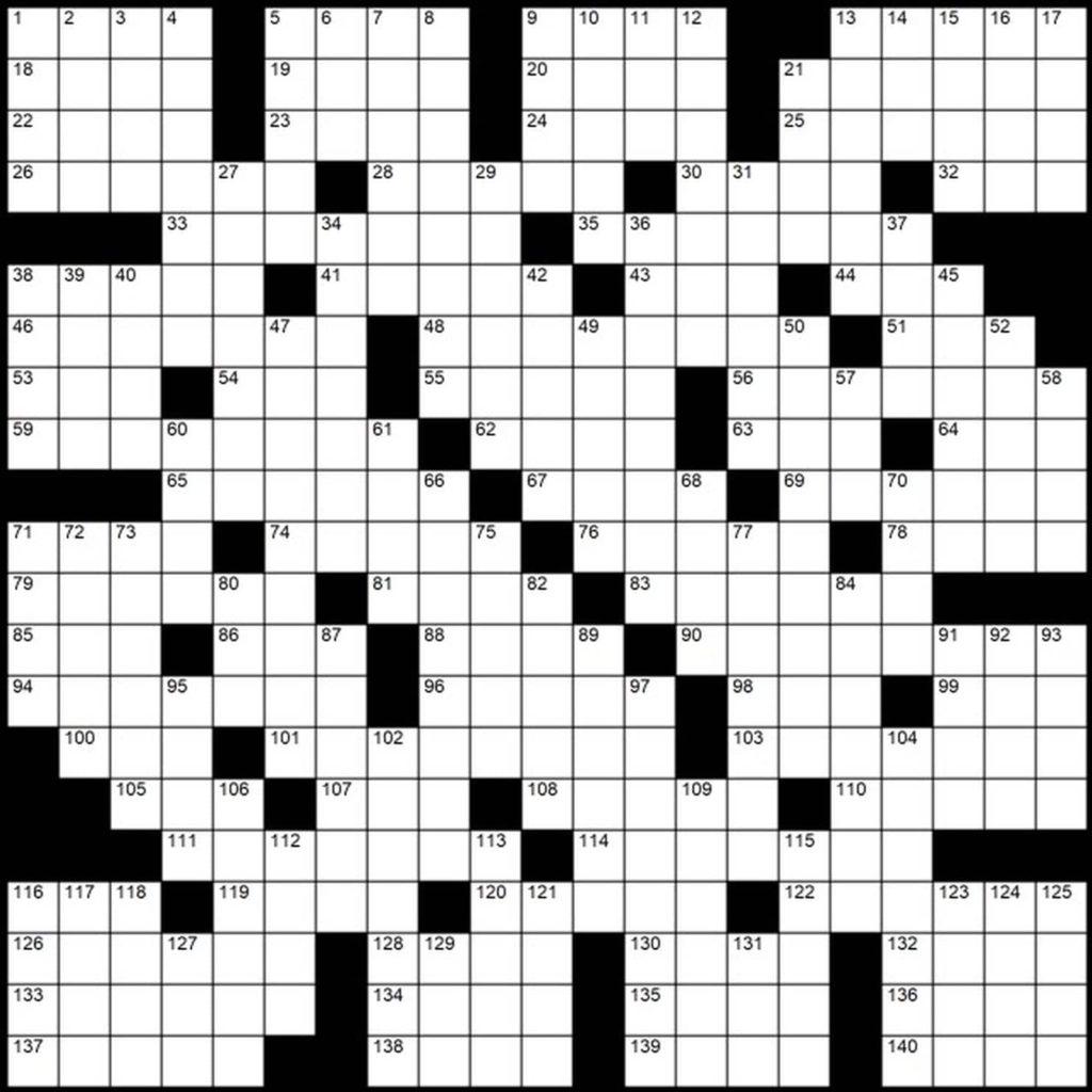 Evan Birnholz S May 12 Post Magazine Crossword In The