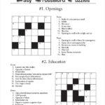 Free Printable Crossword Puzzle 14 Free PDF Documents