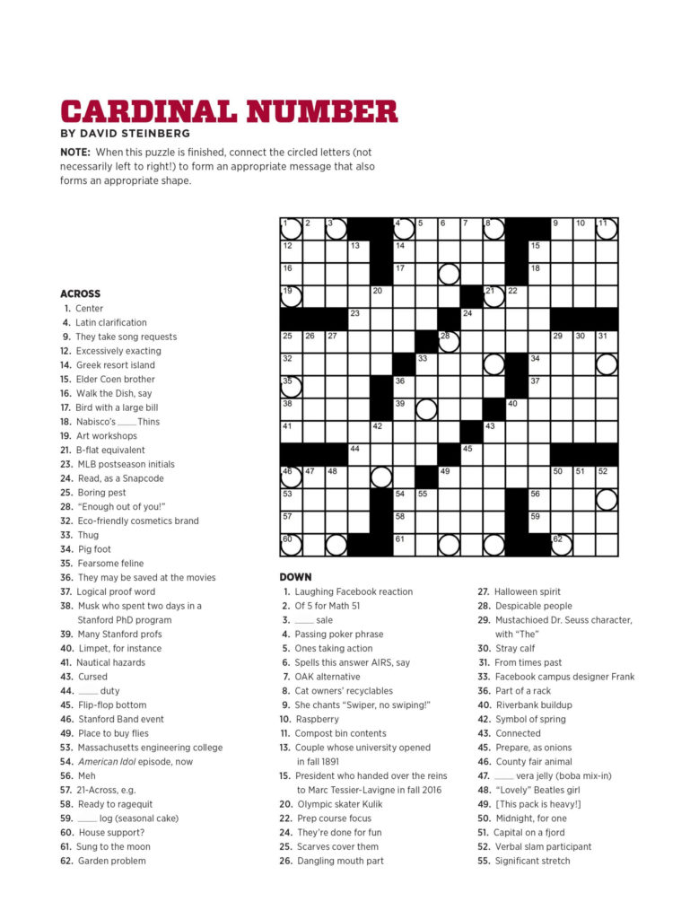 Free Printable Crossword Puzzles Usa Today Printable