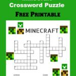 Free Printable Minecraft Crossword Puzzle Jinxy Kids