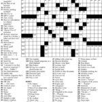Free Printable Sunday Crossword Puzzles Free Printables