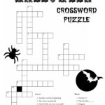 Halloween Crossword Puzzles For Adults Printable
