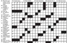 La Times Sunday Crossword Printable Printable Template Free