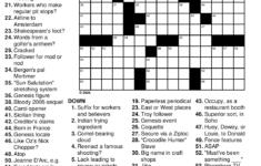 Printable Crossword Puzzle Money Printable Crossword Puzzles