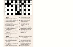 Printable Crossword Puzzles Globe And Mail Printable