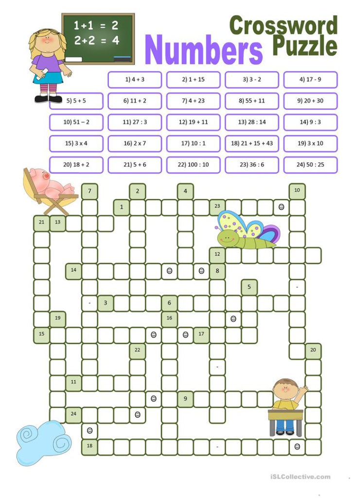 Printable Crosswords For Learning English Printable