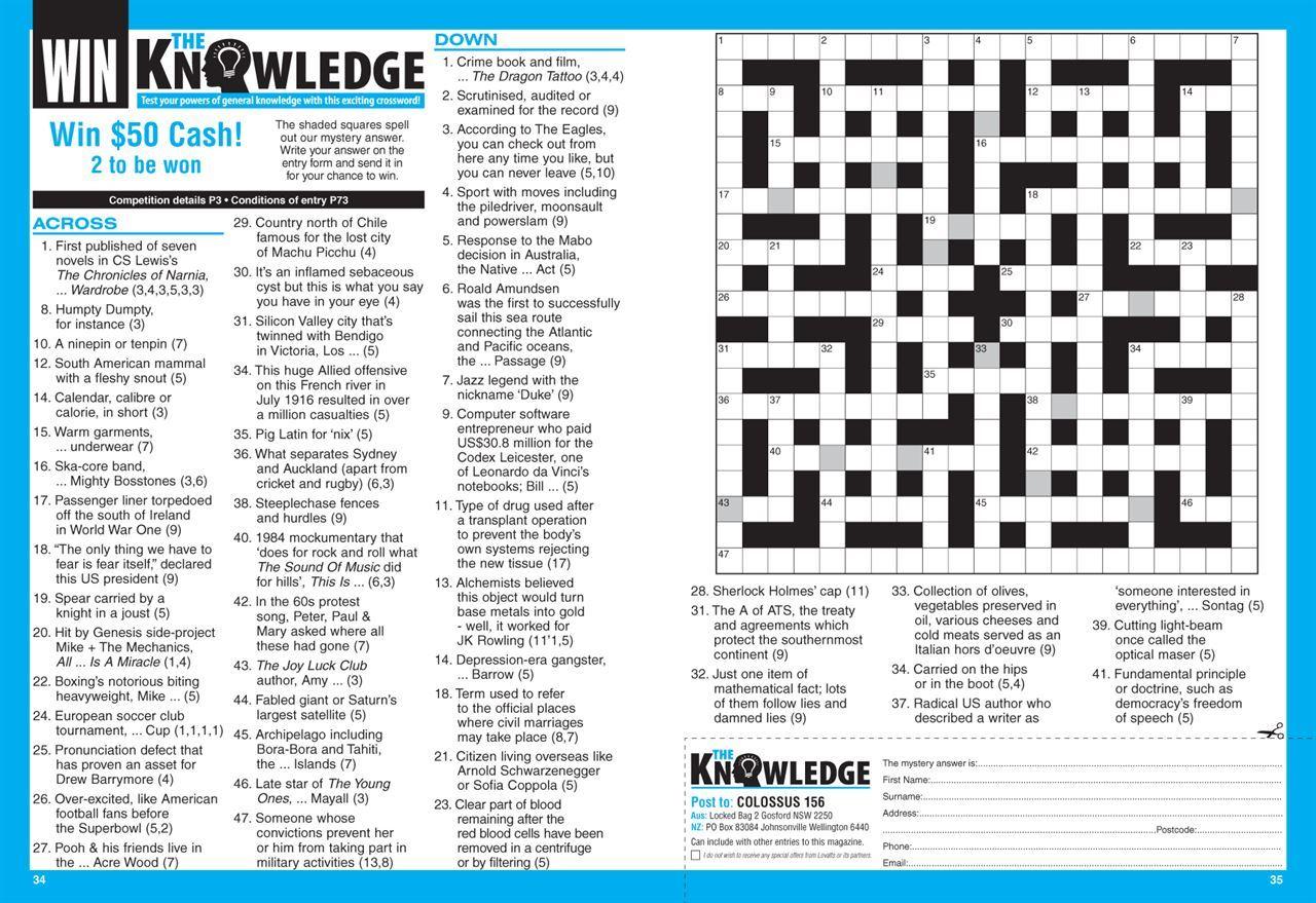 Lovatts Cryptic Crosswords Printable