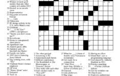 Printable Daily Crossword 2018 Printable Crossword Puzzles