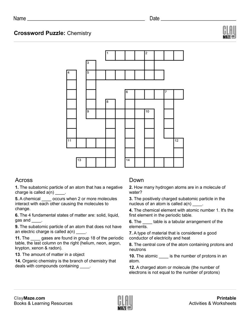 Elementary Crossword Puzzle