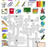 SCHOOL CROSSWORD Worksheet Free ESL Printable
