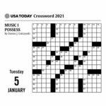 USA Today Crossword Puzzle Desk Calendar 2021 At Calendar