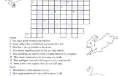 Wildlife Crossword Puzzle Printable Printable Crossword