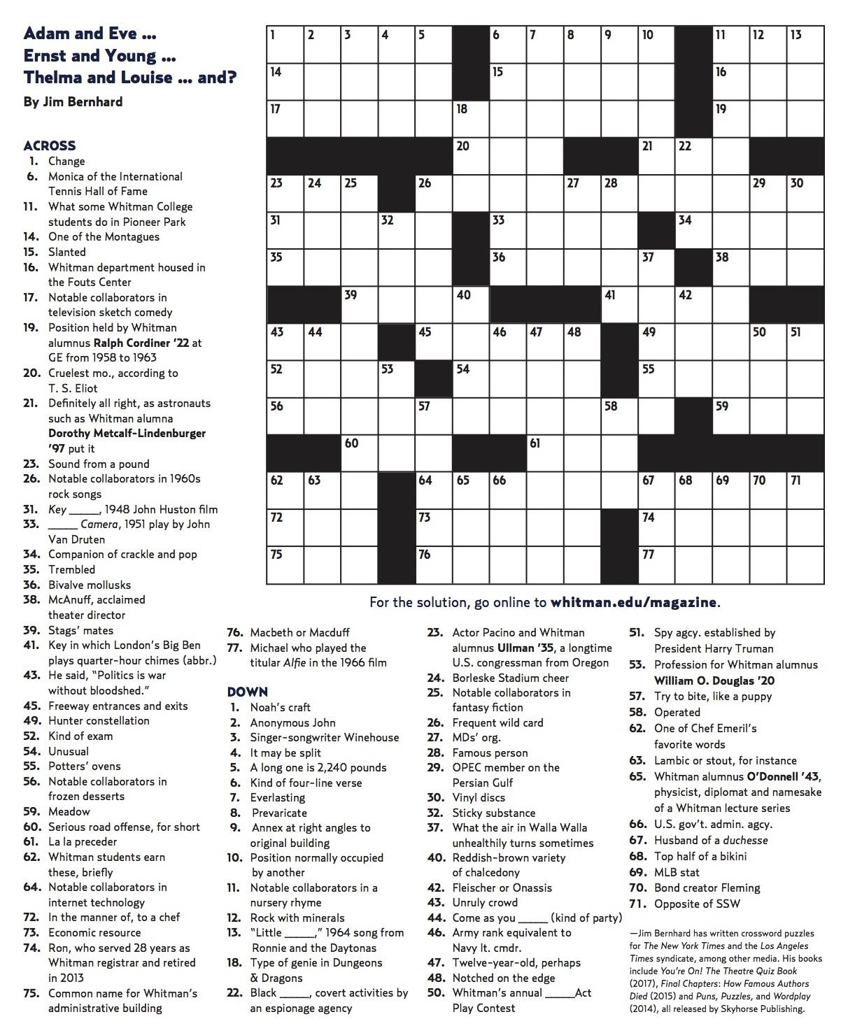 Crossword Puzzles Printable Pdf