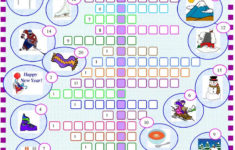 Winter Crossword Puzzle With KEY Worksheet Free ESL